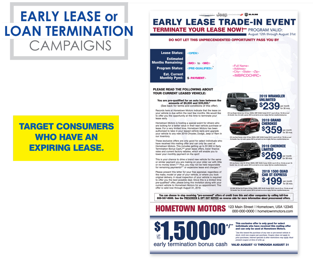 Early Lease Termination Campaigns