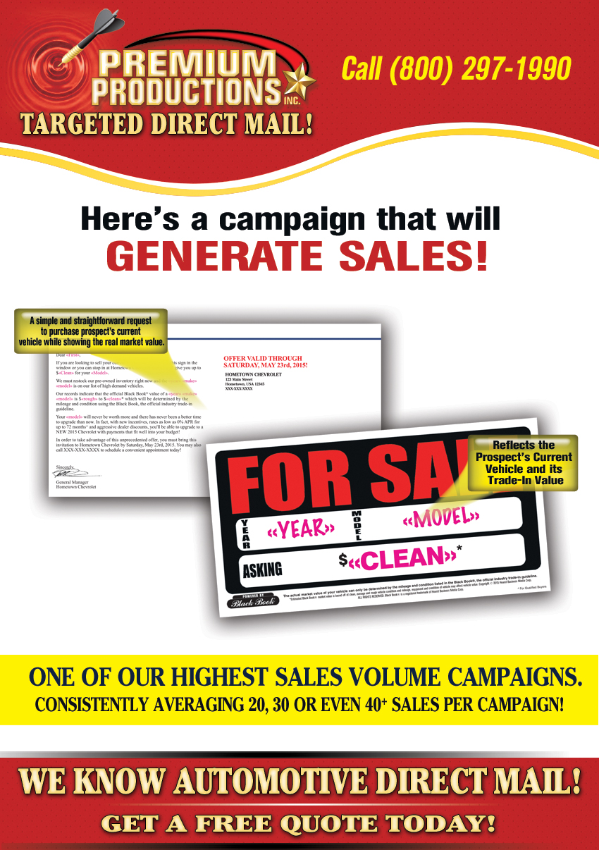 automotive direct mail advertising