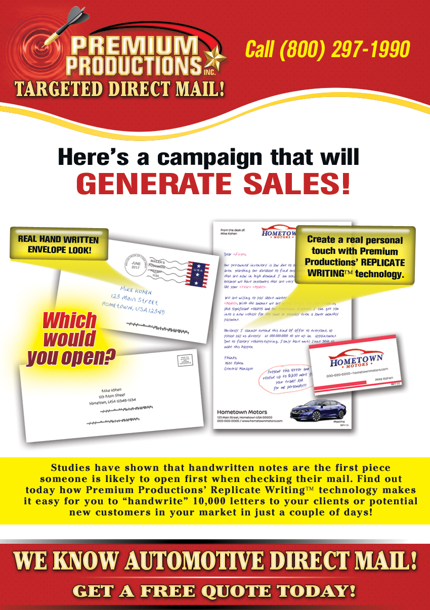 pennsylvania automotive direct mail