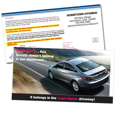 Automotive Direct Mailer